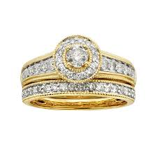 gold bridal sets certified diamonds 14k yellow gold diamond bridal sets