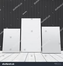 set white blank picture frames room stock vector 664562170