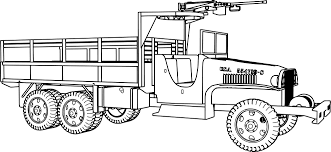 gmc 6 6 military truck coloring wecoloringpage