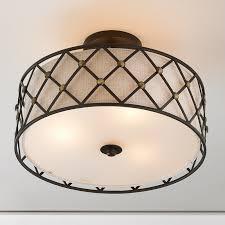semi flush mount ceiling lights shades light