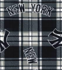 licensed plaid fleece new york yankees joann null