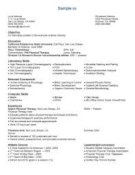 Resume Examples Computer Science by Science Resume Examples Resume Templates