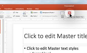 how to create a slide master or template in powerpoint