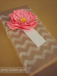 dress up a gift with kraft paper and white ink gift wrap