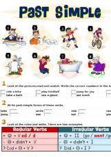 esl english exercises past simple tense