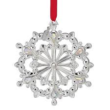 2012 lenox snow majesty snowflake silver ornament silver superstore