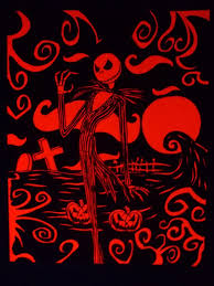 nightmare before christmas blacklight poster by electriclimerose