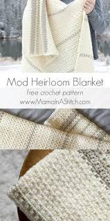 mod heirloom crochet blanket pattern via mamainastitch free