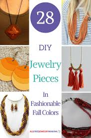 festive fall craft ideas 28 diy jewelry pieces in fashionable