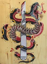 freaky graffiti of dissected cartoon animals and pop culture