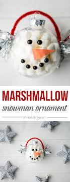 marshmallow snowman ornament an easy craft for