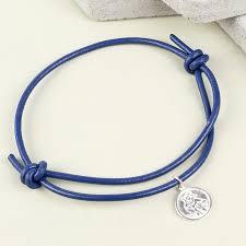 engraved bracelets men u0027s engraved st christopher bracelet in navy lisa angel