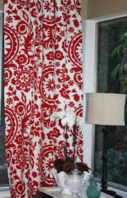 Curtains Printed Designs Gold And Red Suzani Cotton Curtains Set Of 2 Printed Curtains