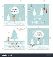 set 4 cute christmas cards quote stock vector 533038495 shutterstock