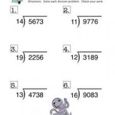 long division worksheet have fun teaching