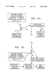 patent us5377310 controlling under actuated robot arms using a