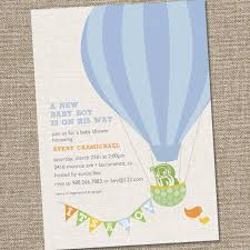 air balloon baby shower invitation marialonghi