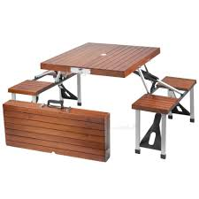 bench folding table with bench folding picnic table bench best