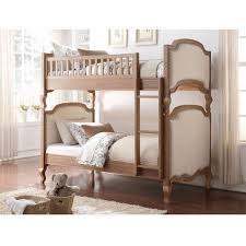 Charlton Twin Over Twin Wood And Upholstered Bunk Bed Cream - Upholstered bunk bed