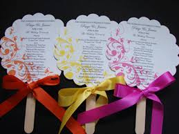 Fan Programs For Weddings Customized Wedding Programs Place Cards Table Cards U0026 Menus