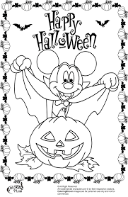 minnie and mickey mouse coloring pages for halloween team colors