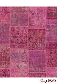 Over Dyed Distressed Rugs 152x245 Cm Light Pink Patchwork Rug Handmade From Overdyed
