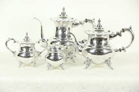 vintage tea set sterling silver vintage tea coffee set 4 pc japan 950 harp