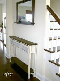 narrow console table for hallway super skinny console table diy i so need this next to my non