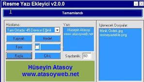 resme yazı yazma programı türkçe indir fotoğrafın üzerine yazı