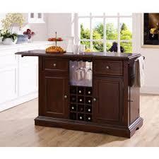 Kitchen Island With Wine Rack - alton dark cherry kitchen island u2013 wine rack concepts