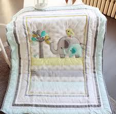 Elephant Crib Bedding For Boys 7 Pcs Elephant Baby Bedding Set Baby Cradle Crib Cot Bedding