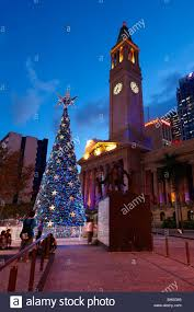 Solar Christmas Lights Australia - solar powered christmas tree at king george square brisbane stock