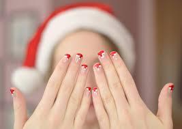 diy santa hat nail art classically contemporary