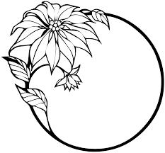 christmas flower black white line art xmas holiday coloring book