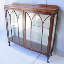 Glass Display Cabinet Perth A Walnut Two Door Display Cabinet Display Cabinets Antique