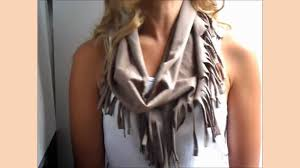 diy fringe scarf from a t shirt youtube