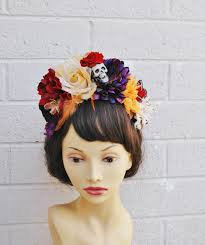 day of the dead headband 74 best dotd band ideas images on floral crowns