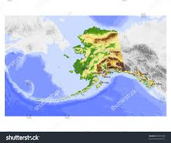 Alaska Rivers Map by Alaska Physical Vector Map Colored According Stock Vector 20973856