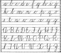 free cursive alphabet worksheets worksheets