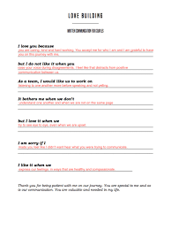worksheet couples communication worksheets caytailoc free