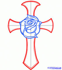 draw a and cross for tattoomagz