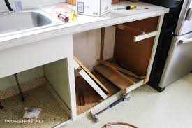 sink kitchen cabinet base repair adding a dishwasher to existing cabinets