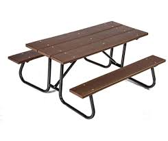 recycled plastic picnic tables 6 ft recycled plastic picnic table with galvanized welded frame