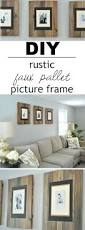 Cheap Shabby Chic Photo Frames by Best 25 Pallet Frames Ideas On Pinterest Pallet Photo Frames