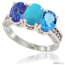 tanzanite blue rings images 10k white gold natural swiss blue topaz turquoise tanzanite jpg