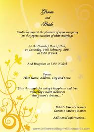 e wedding invitations sle of wedding invitation card in