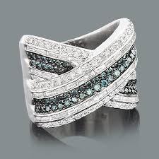 diamond cocktail rings gold white blue diamond cocktail ring 3 10ct