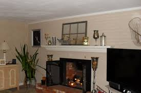 fab and cool beige painted fireplace wall decors also white mantel