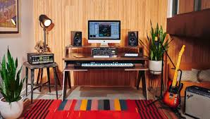 music studio cool music studio interior design with wooden wall at one side and