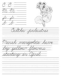 endangered plants easy cursive printable cursive handwriting